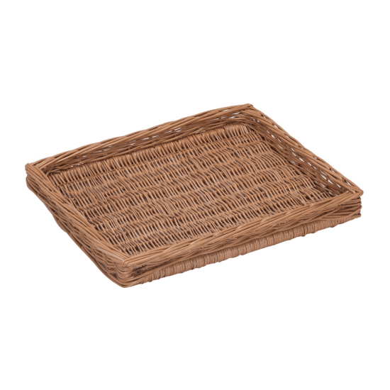 Shallow Wicker Display Tray