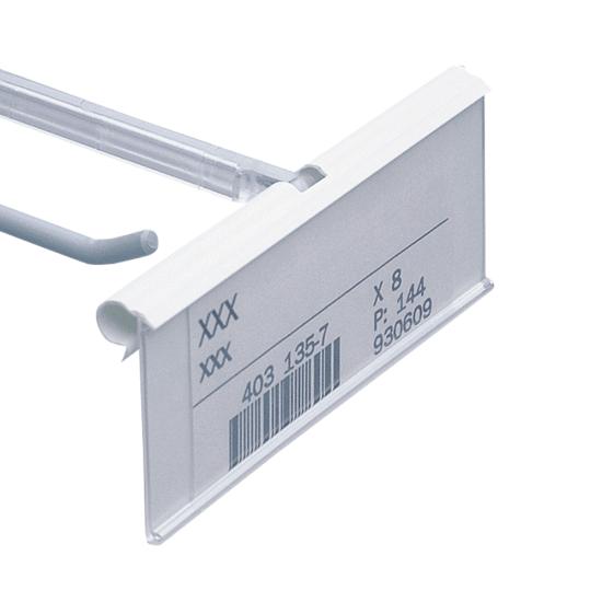 Flip up label holder (overarm ticket holder and slatwall hook not included)
