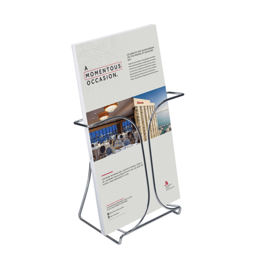 A4 Wire Counter Standing Leaflet Holder