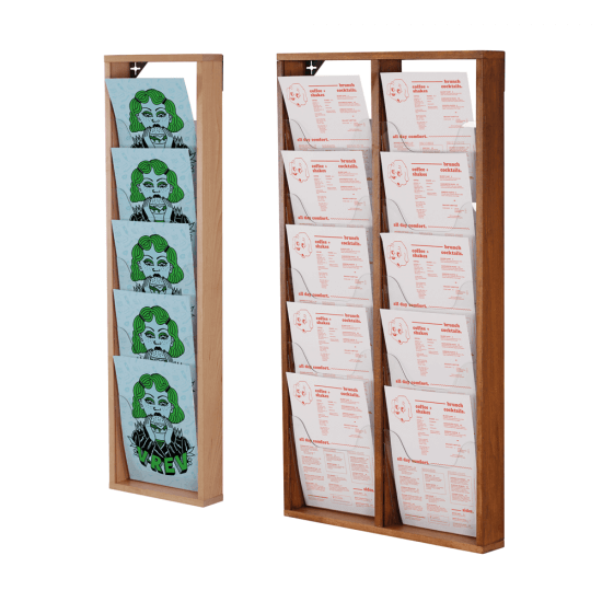 Wooden Wall Mounted Magazine Rack in a choice of colours and sizes