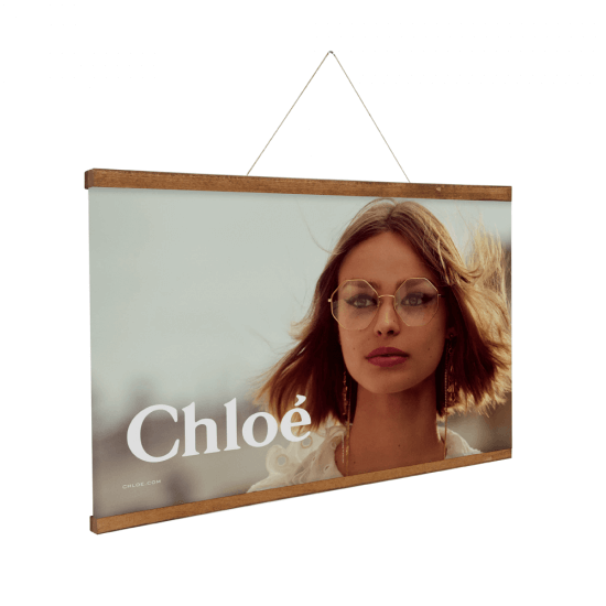 Wooden Magnetic Poster Hanger available with printed posters