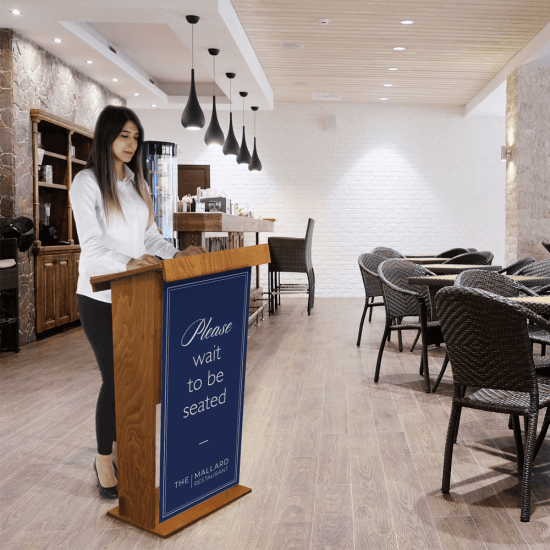 Our Wooden Lectern Stands are ideal for use in restaurants