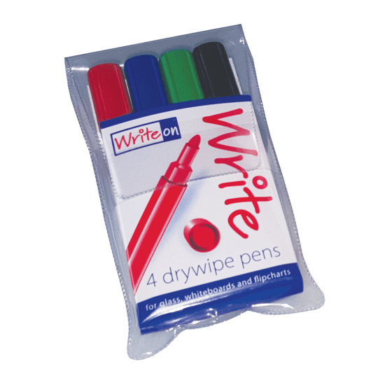 Coloured whiteboard dry wipe board pens