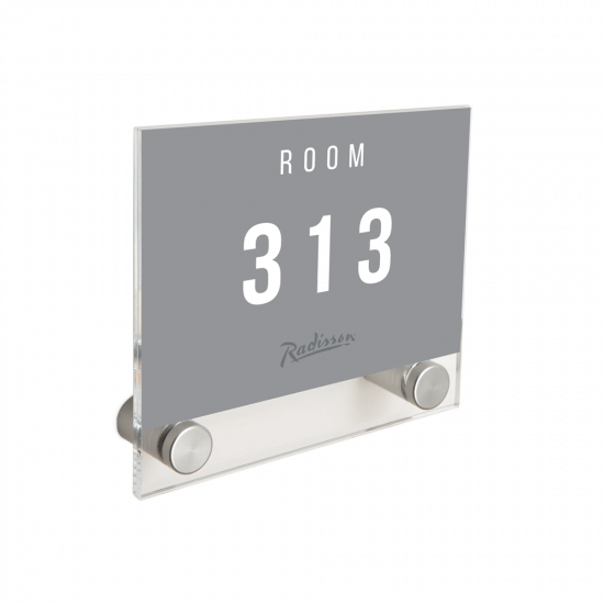 Acrylic Wall Mount Sign Holder
