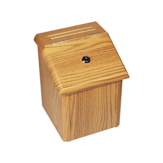 Wooden Suggestion Box with Lock