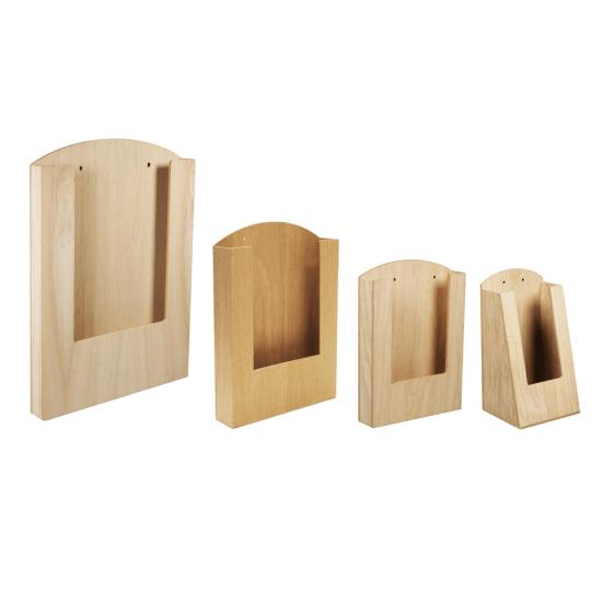 Pocket Wooden Menu Holder all sizes