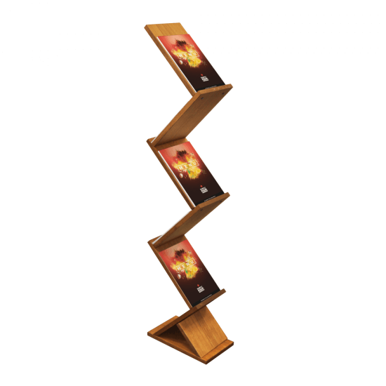 Zig Zag Wooden Leaflet Display Stand