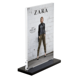 Counter Standing Supervue Acrylic Block Sign Holder