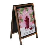 Wooden A Board Poster Holder Dark Oak
