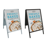 Black or Silver A Board Snap Frame Pavement Signs