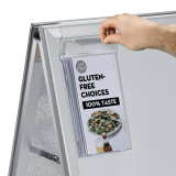 Outdoor A Board Leaflet Holder with 1/3 A4 leaflets