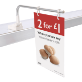 Magnetic Banner Hanger (For Over Or Under Shelf Fixing)