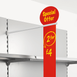 Aisle Fin Holder with Double Slot to suit a variety of aisle violator signs