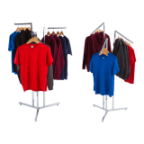 Three Arm Clothes Rail Display Stand with straight or sloping arms