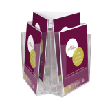 Revolving Leaflet Holder for A4 leaflets or dividers enable 1/3 A4 literature