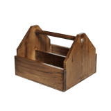 Wooden Condiment Holder