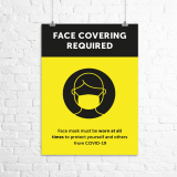 "A2 ""Face Covering Required"" poster"