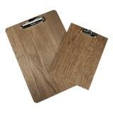 Wooden Menu Clipboard with Dark Oak finish A4 and A5