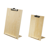 Wooden Menu Display Stand with Bulldog Clip