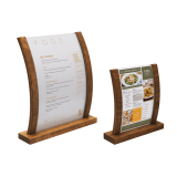 Curved Wooden Menu Sign Holder