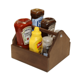 Wooden Condiments Holder aka wooden table caddy