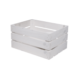 White Wooden Crate display