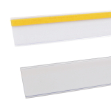 Flat Shelf Data Strips in clear or white with various sizes to choose from