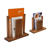 Duo Wooden Table Menu Holder in A4 or A5 sizes