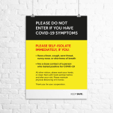 "A4 ""Do Not Enter If You Have COVID-19 Symptoms"" poster"