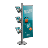 Brochure and Banner Display Stand with optional printed poster