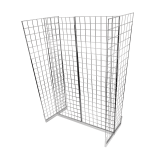 Gridwall Gondola Stand for a multi-sided gridwall display