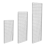Black Grid Mesh Panels in five sizes