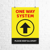 "A4 ""One Way System"" poster"