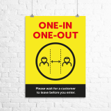 "A3 ""One-in, one-out"" poster"