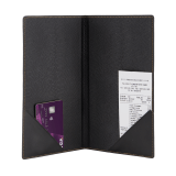 The Contemporary Faux Leather Bill Presenter includes several pockets