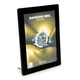 LED Illuminated Poster Holder Black