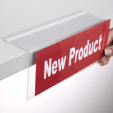 Right Angled Shelf Talker with Adhesive Return
