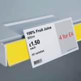 Angled Shelf Talker with Adhesive Return
