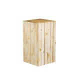 Wooden effect Cardboard Display Plinth