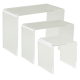 Clear Set of Three Premium Display Bridges