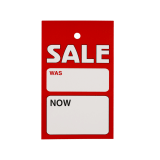 Was and Now Sale Display Ticket blank