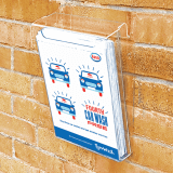Acrylic Outdoor Leaflet Holder in use
