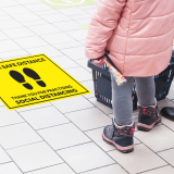 Social Distancing Printed Floor Mats