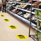 One way floor signs