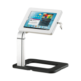 White tablet stand holder and tablet display unit