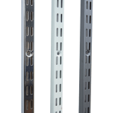 Twin slot uprights with a 32mm pitch, available in a choice of three colours