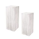 White Wooden Display Pedestal Stand