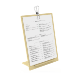Wooden Menu Holder with Clip