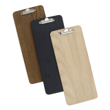 Wooden Wine List Clipboard dark oak, black or natural