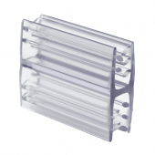 Supergrip Double Grip Clip, clear PVC display board joining clip